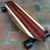 Skateboard made from 4 types of wood